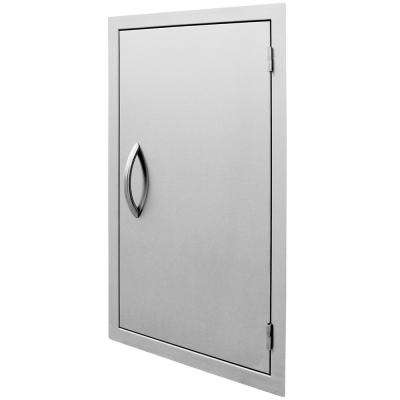 32 in. Vertical Stainless Steel Door