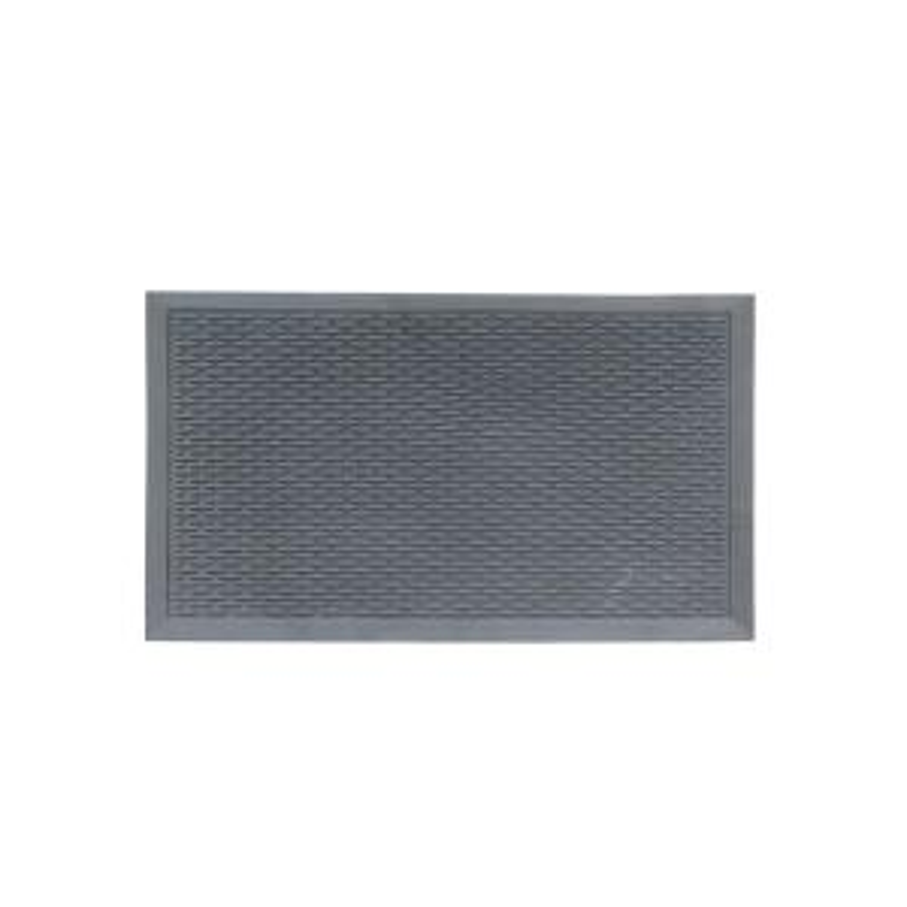 A1HC Capsule Stud 36 inch x 60 inch Rubber Clean Step Scraper Floor Mat by