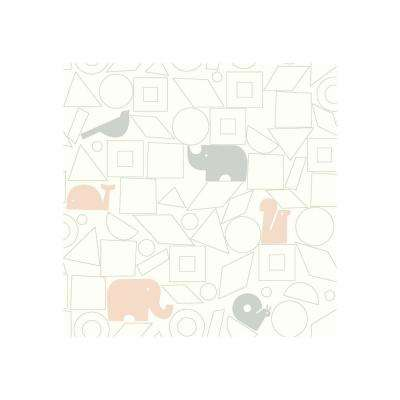 DwellStudio Baby and Kids Animal Blocks Wallpaper