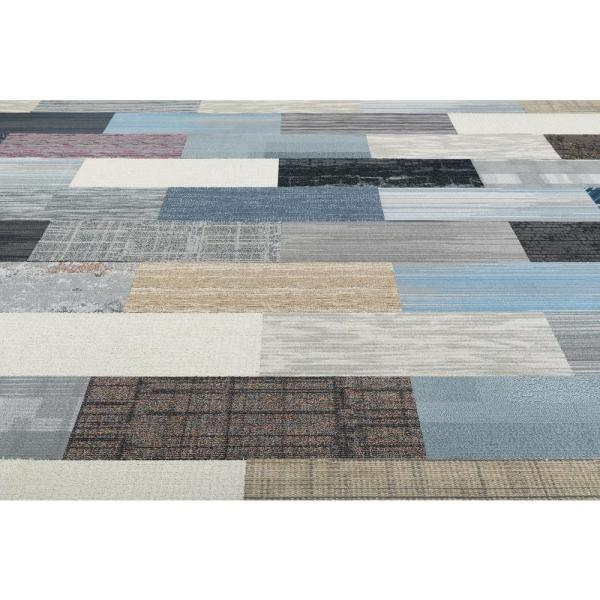 Versatile Assorted Pattern Commercial Peel And Stick 12 In X 36 In Carpet Tile Planks 10 Tiles Case 17665 The Home Depot
