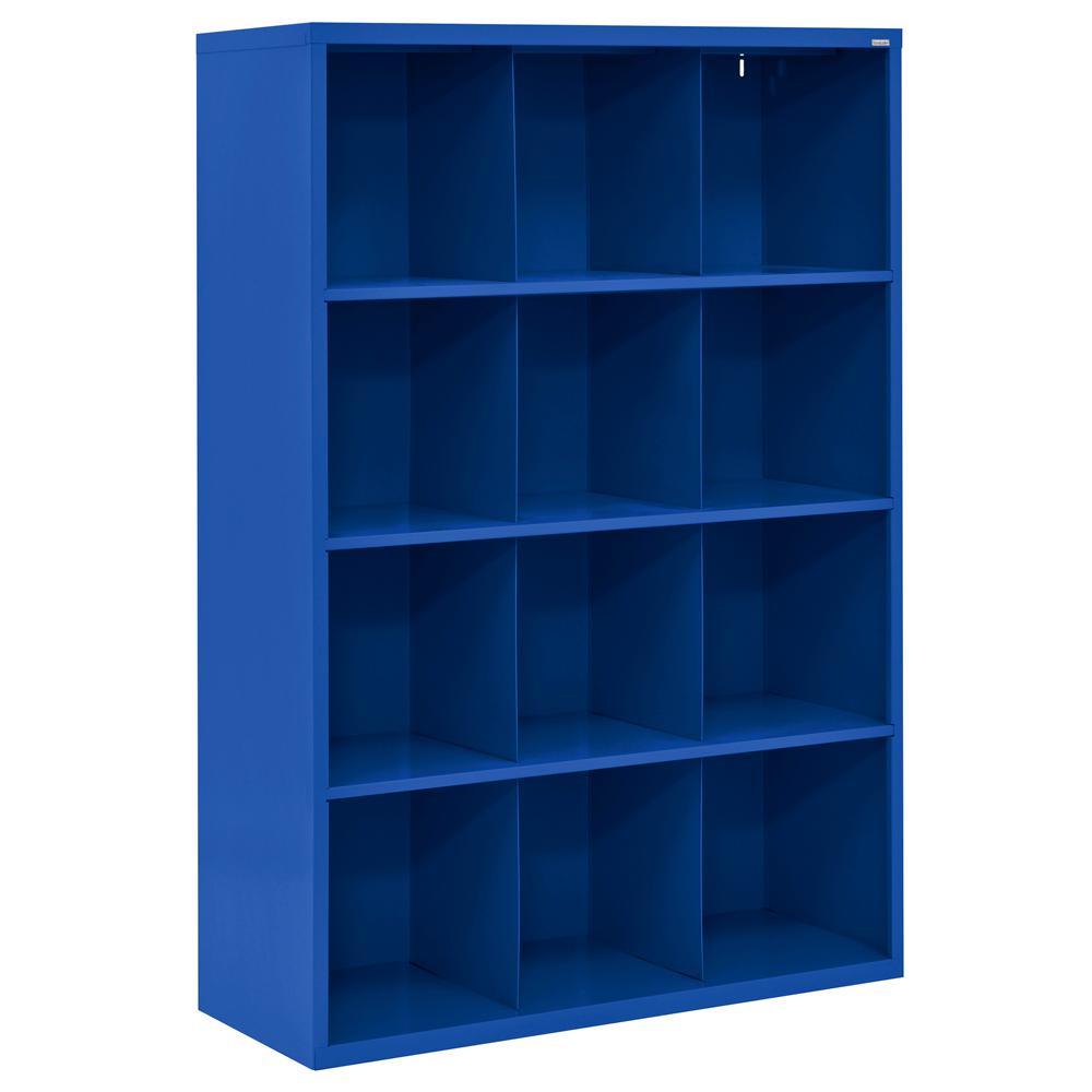 Cubby 46 in. x 66 in. Blue 12-Cube Organizer