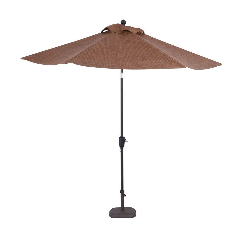 Delightful Hampton Bay Niles Park 9 Ft. Patio Umbrella