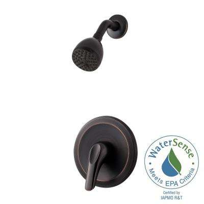 Pfirst Series Single-Handle Shower Faucet Trim Kit in Tuscan Bronze (Valve Not Included)