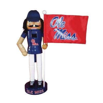 12 in. Mississippi Mascot Nutcracker with Flag