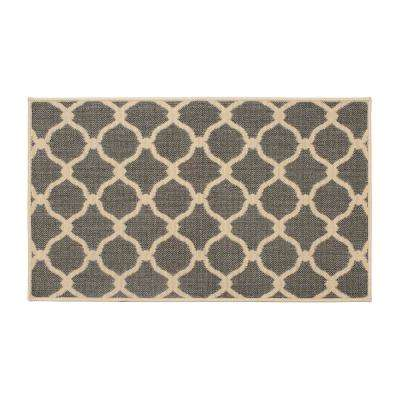 Arietta Grey 8 ft. x 5 ft. Indoor/Outdoor Area Rug