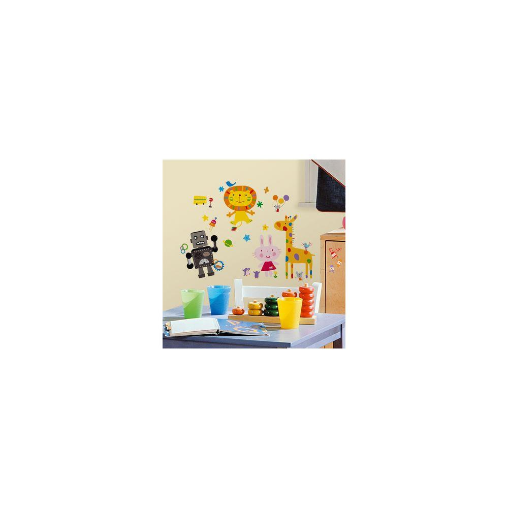 5 in. x 11.5 in. Lazoo Peel and Stick Wall Decals