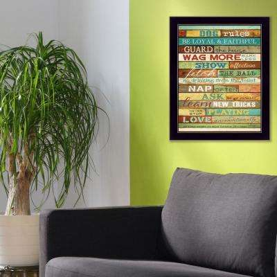 """22 in. x 18 in. ''Dog Rules"""" by Marla Rae Printed Framed Wall Art"""