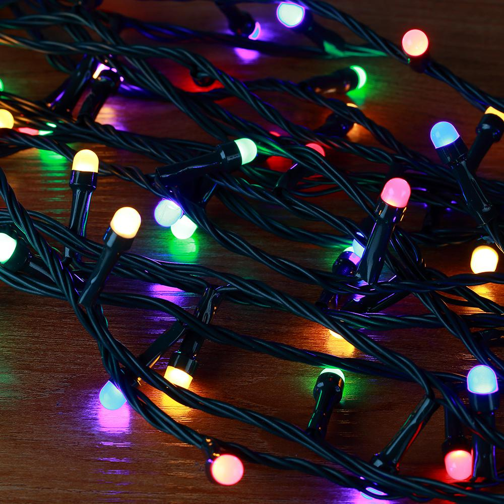 Led String Lights Reject Shop: Novolink 50 Ft. 200 Light Mini Globe Multi-color Low