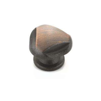 Traditional 1-3/32 in. (28 mm) Brushed Oil-Rubbed Bronze Cabinet Knob