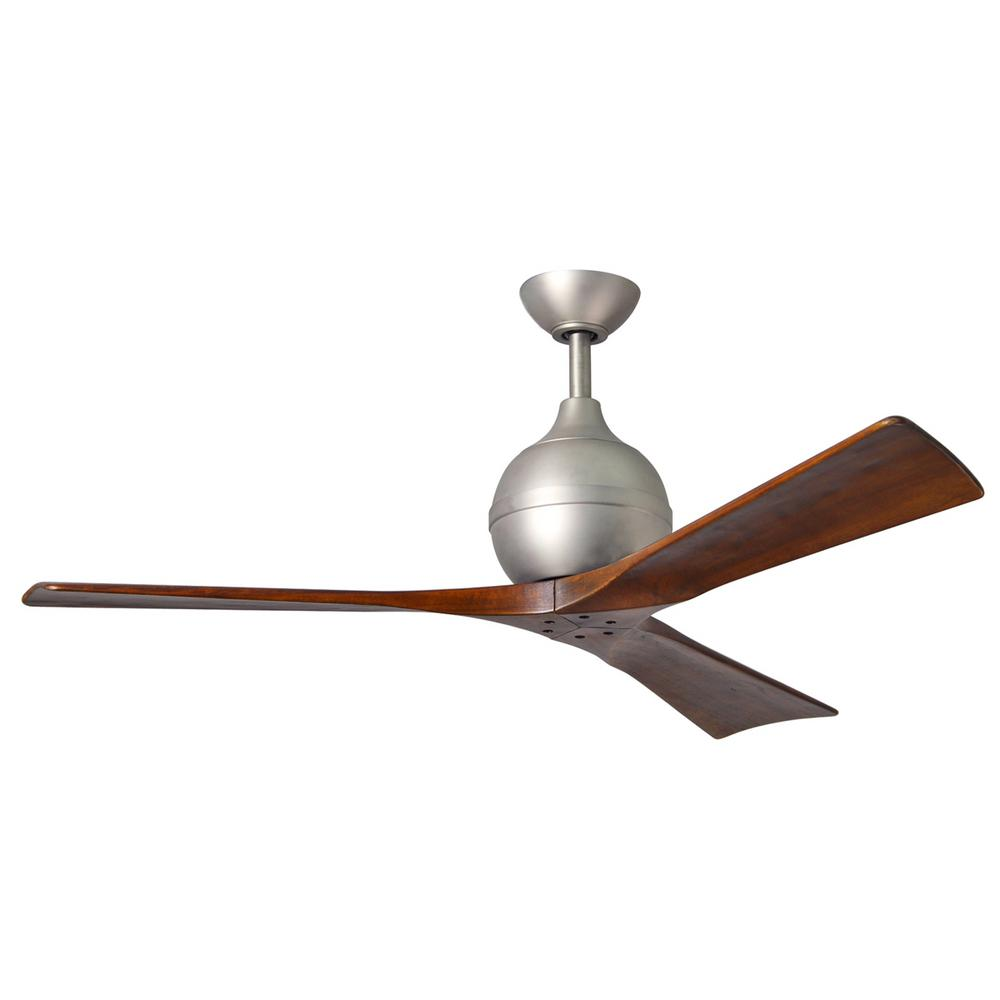 Irene 52 in. Indoor/Outdoor Brushed Nickel Ceiling Fan with Remote Control
