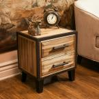 Noble House 2-Drawer Stained Brown Nightstand