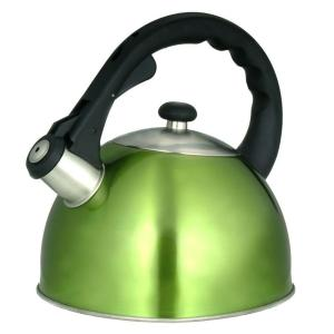 Click here to buy Creative Home Satin Splendor 11.2-Cup Stovetop Tea Kettle in Chartreuse by Creative Home.