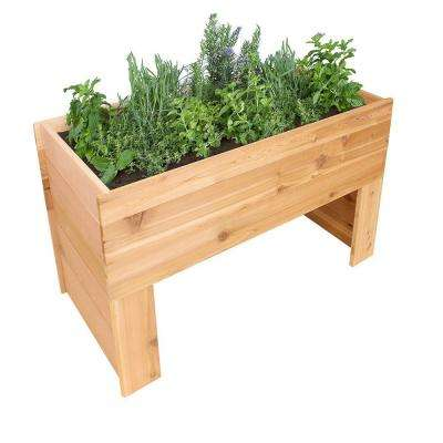 47 in. x 24 in. x 30 in. Cedar Elevated Garden Bed