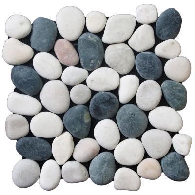 Classic Tile Blend 11.5 in. x 11.5 in. x 12.7 mm Indonesian Pebble Mesh-Mounted Mosaic Tile (10.098 sq. ft. / case)