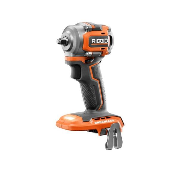 18-Volt SubCompact Lithium-Ion Cordless Brushless 3/8 in. Impact Wrench (Tool Only) with Belt Clip