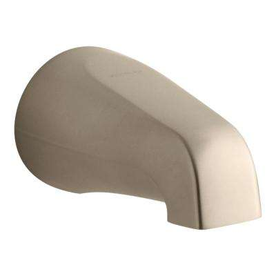 Devonshire 4-7/16 in. Non-Diverter Bath Spout with Slip-Fit Connection in Vibrant Brushed Bronze