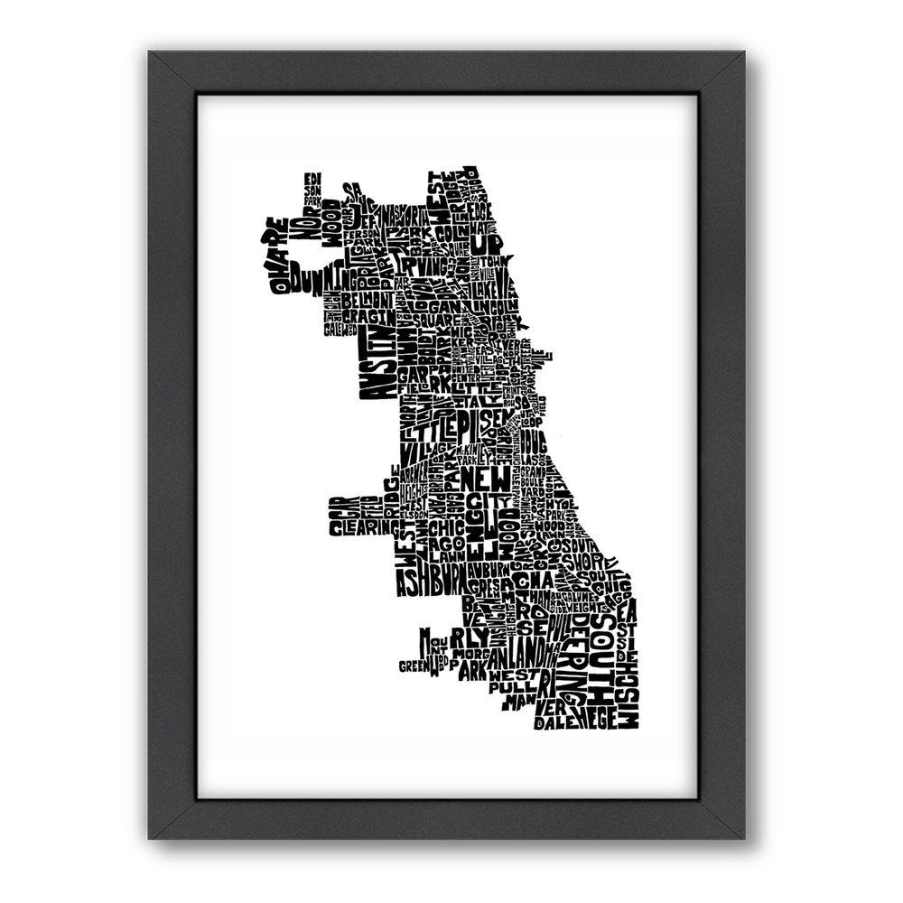 "Americanflat 27 in. x 21 in. ""Chicago"" by Joe Brewton Framed Wall Art"
