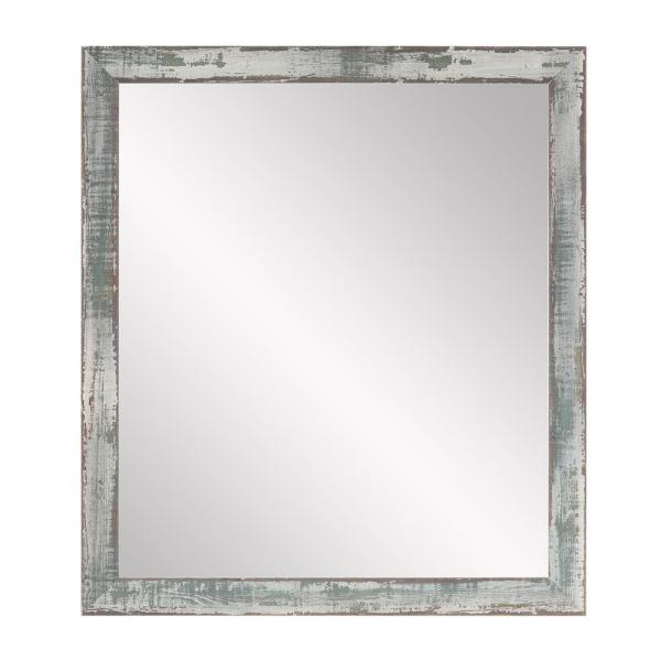 Large Rectangle Sage/Brown/Gray Modern Mirror (53.5 in. H x 30.5 in. W)