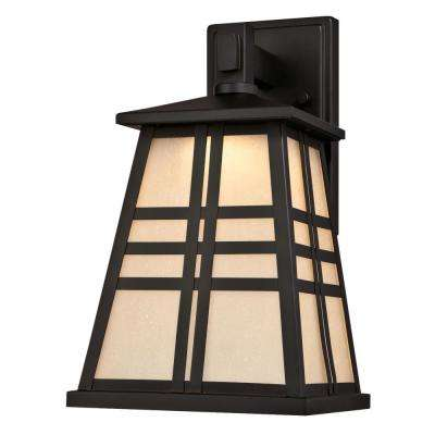 Creekview 1-Light Oil Rubbed Bronze Outdoor Integrated LED Wall Mount Lantern
