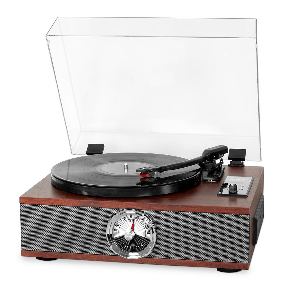 victrola 7 in 1 bluetooth record player with usb recording. Black Bedroom Furniture Sets. Home Design Ideas