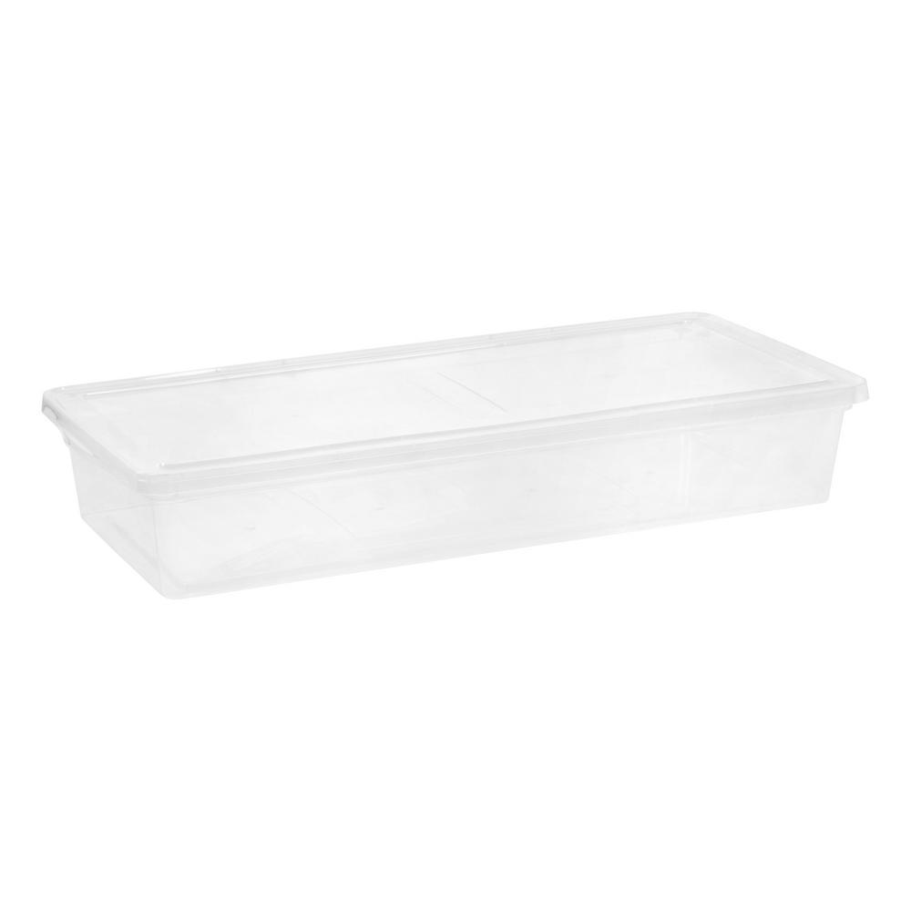 IRIS 41 Qt. Underbed Storage Box in Clear