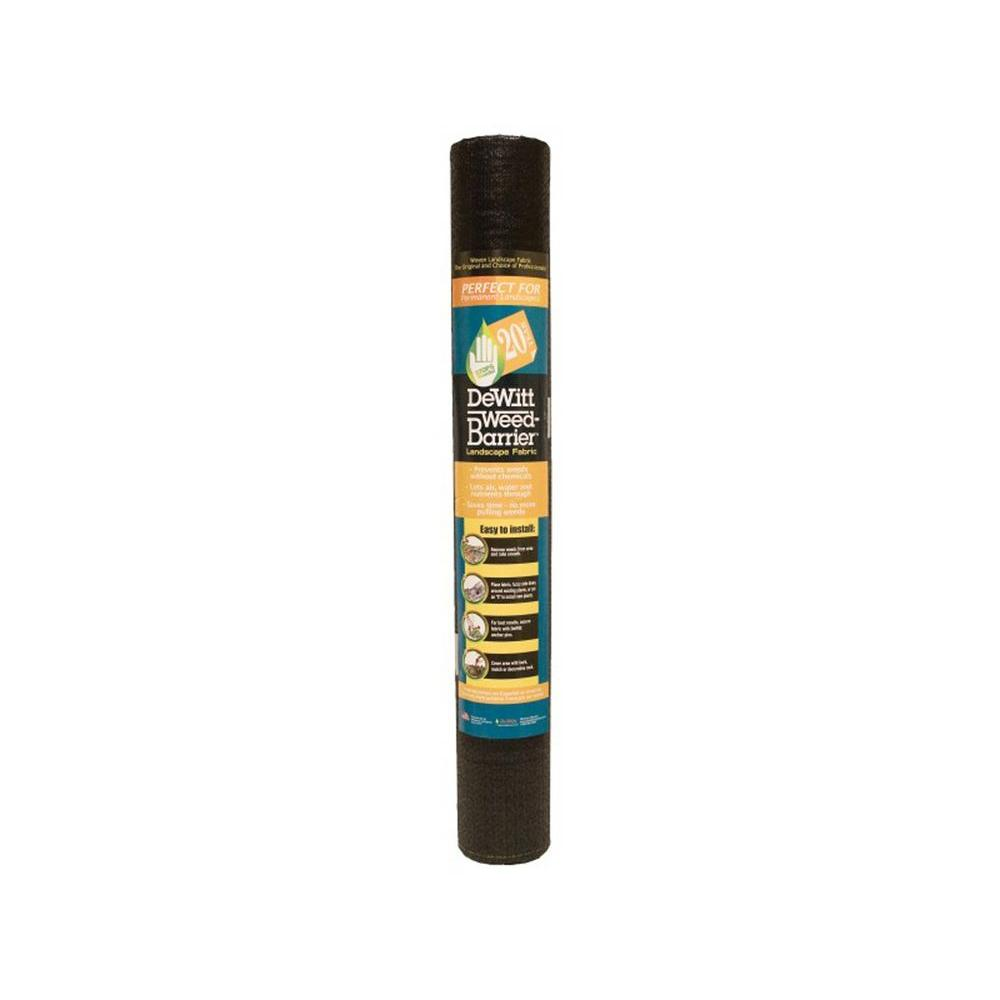 4 ft. W x 250 ft. L Polypropylene Black Weed-Barrier