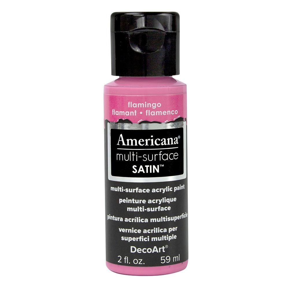 Americana 2 oz. Flamingo Satin Multi-Surface Acrylic Paint