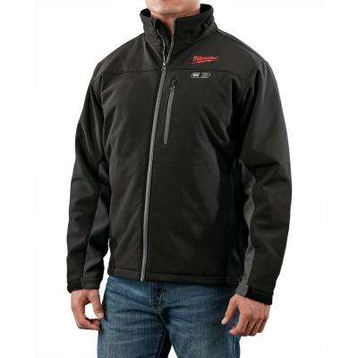 Medium M12 12-Volt Lithium-Ion Cordless Black Heated Jacket (Jacket-Only)