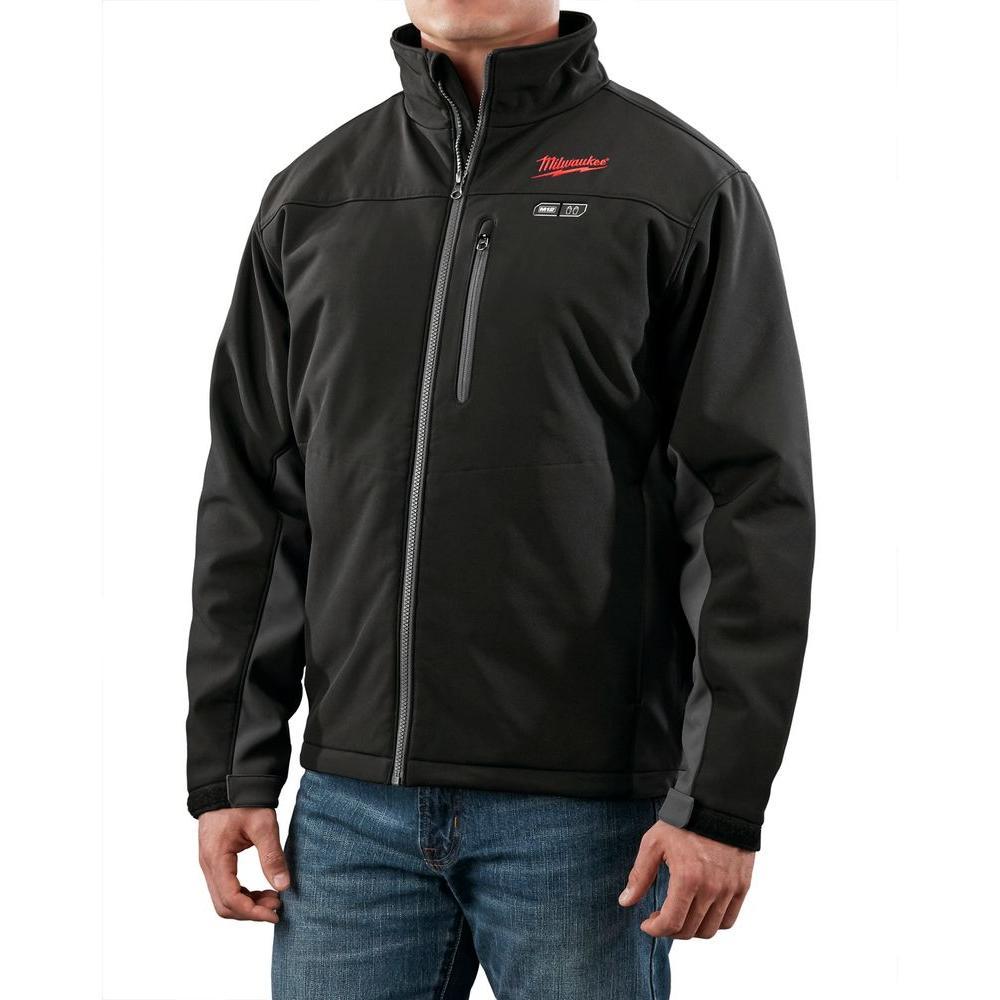 X-Large M12 12-Volt Lithium-Ion Cordless Black Heated Jacket (Jacket Only)
