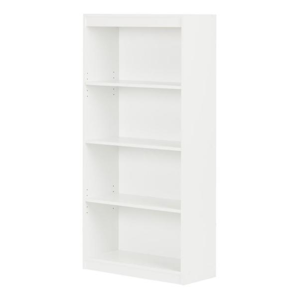 South Shore Axess 4-Shelf Bookcase in Pure White
