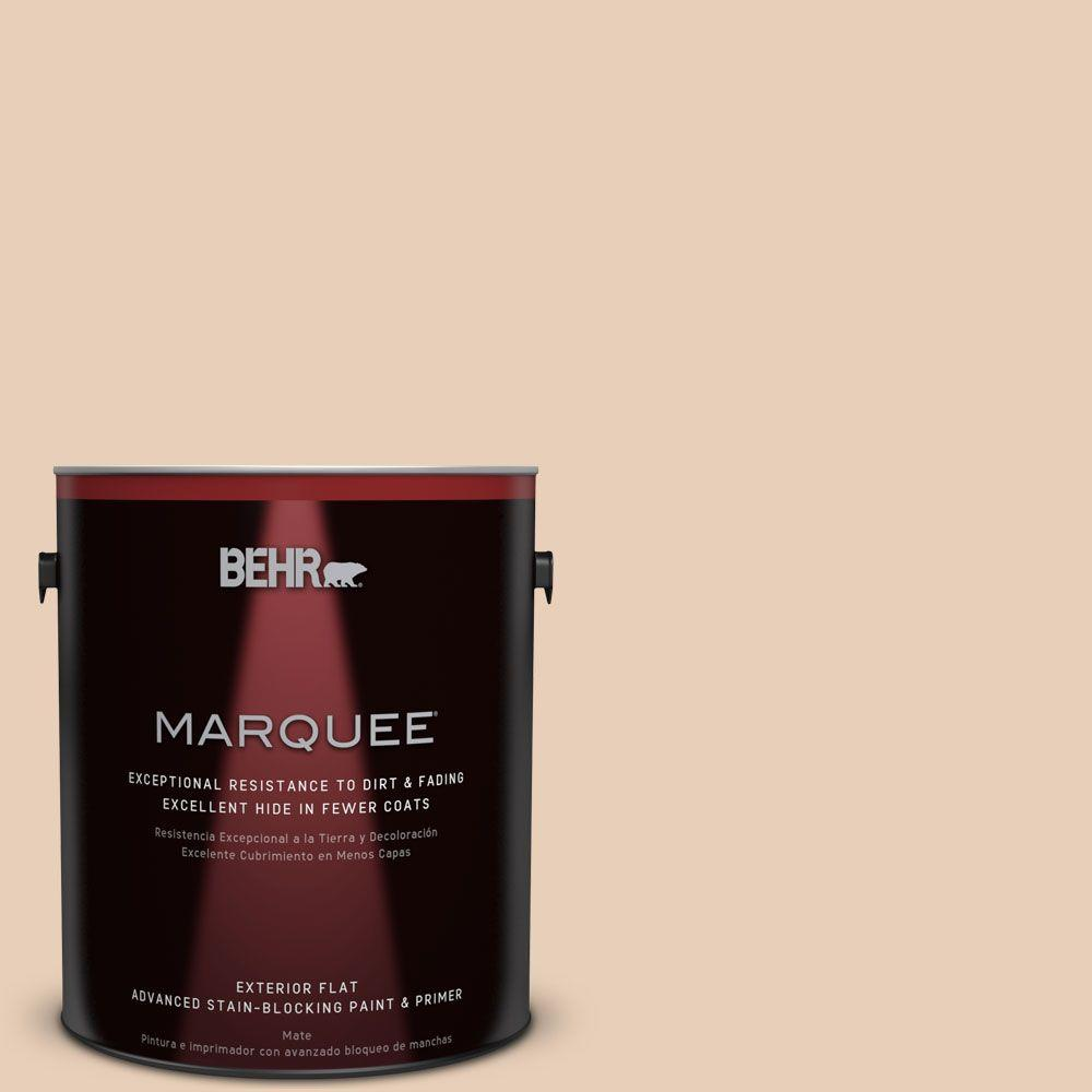 BEHR MARQUEE 1-gal. #S230-1 Buff Tone Flat Exterior Paint