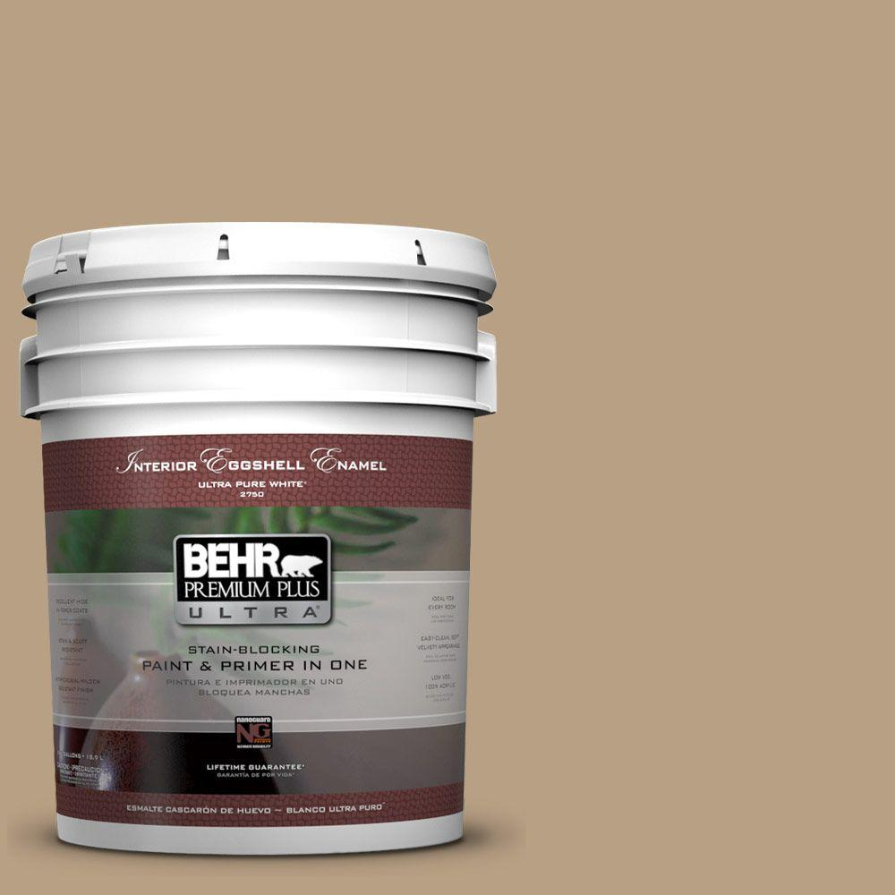 Home Decorators Collection 5-gal. #HDC-AC-12 Craft Brown Eggshell Enamel