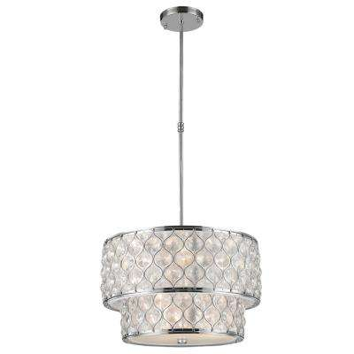 Paris 12-Light Polished Chrome with Clear Crystal Pendant