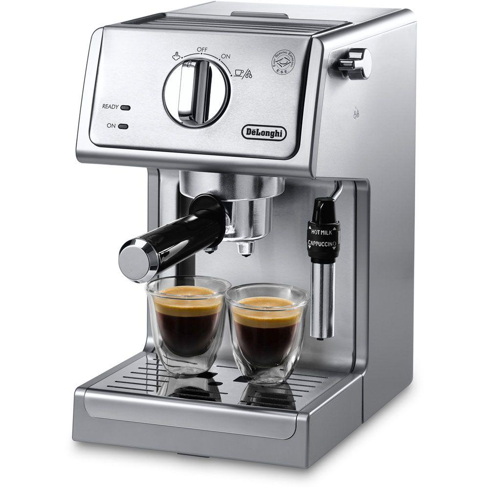 Delonghi 15-Bar Pump Espresso and Cappuccino Machine in S...