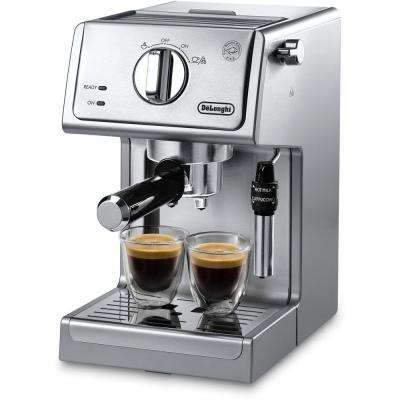 15-Bar Pump Espresso and Cappuccino Machine in Stainless Steel