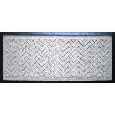 White 15 in. x 36 in. x 0.5 in. Chevron Boot Tray