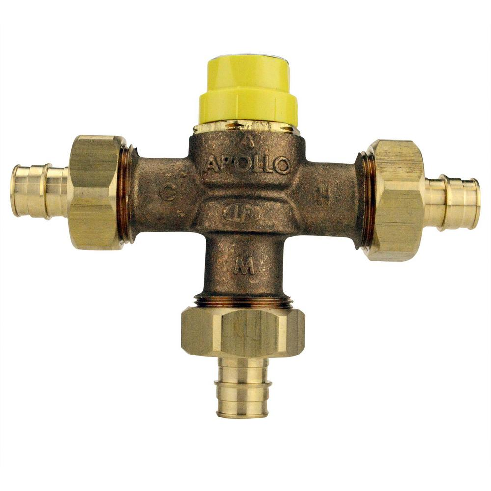 3/4 in. Lead Free Bronze PEX-A Expansion Barb Thermostatic Mixing Valve