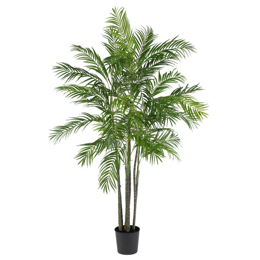Artificial Tree Home Decor: Nearly Natural 6 Ft. Areca Palm Silk Tree-5275