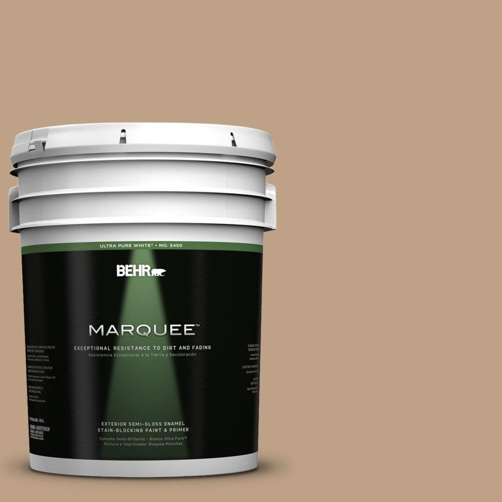 BEHR MARQUEE 5-gal. #PPU4-5 Basketry Semi-Gloss Enamel Exterior Paint