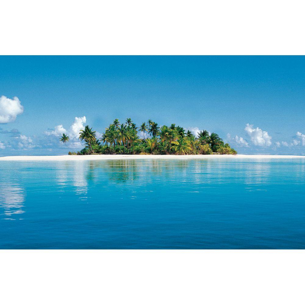 Ideal Decor 50 in. x 144 in. Maldives Island Wall Mural