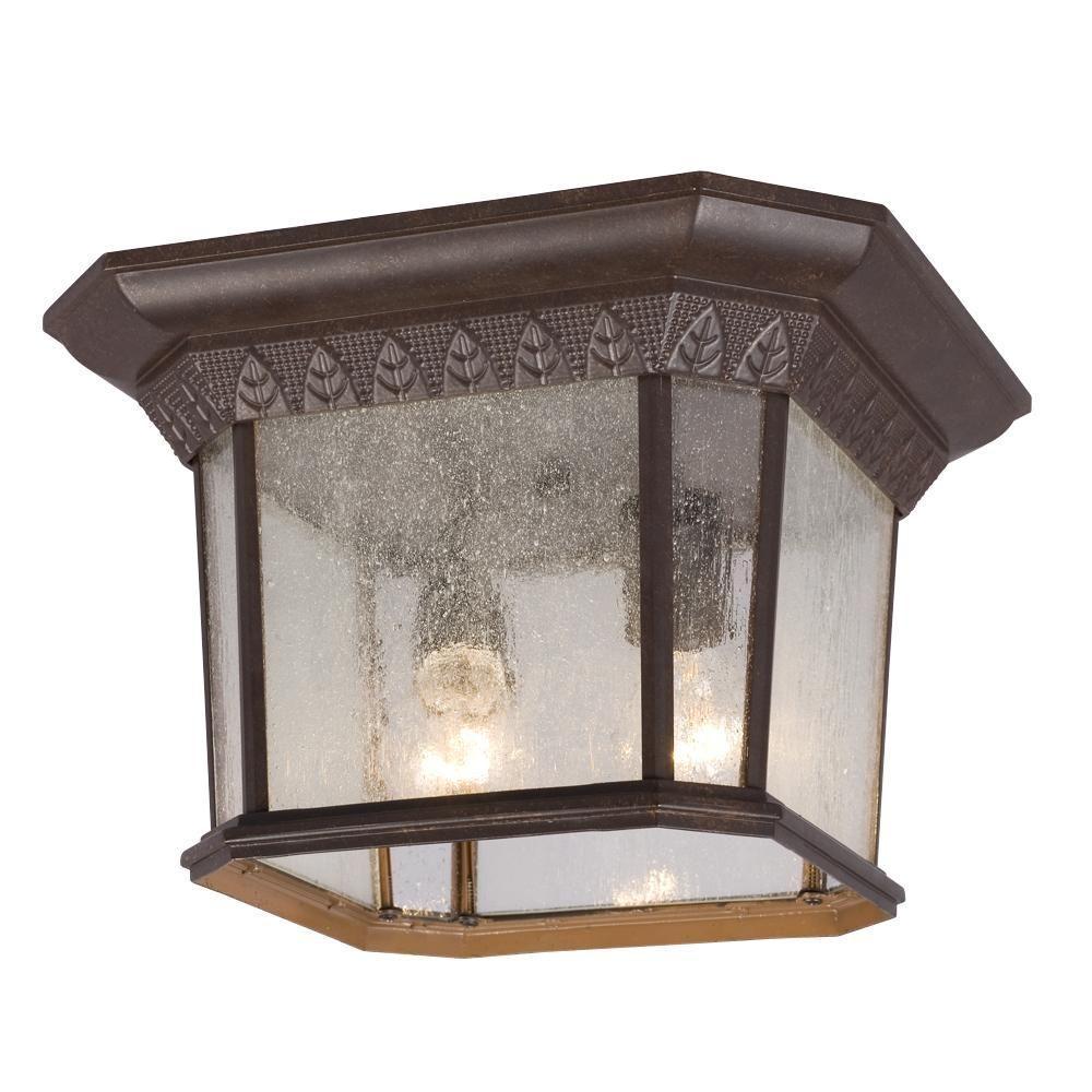 Filament Design Negron 2-Light Outdoor Bronze Flush Mount