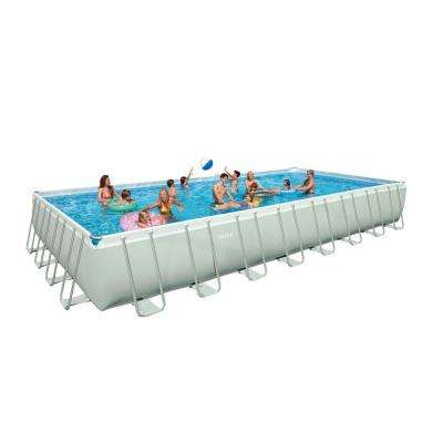 32 ft. x 16 ft. x 52 in. Rectangular Ultra Frame Pool Set
