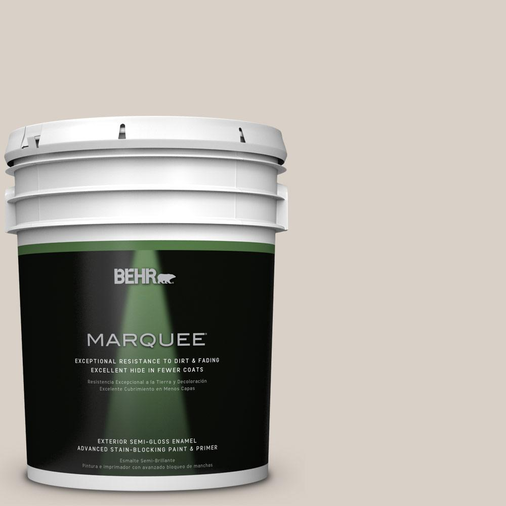BEHR MARQUEE 5-gal. #ECC-18-2 Pebbled Shore Semi-Gloss Enamel Exterior Paint