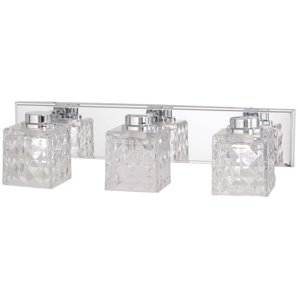 Glorietta 100-Watt Equivalence Chrome Integrated LED Bath Light