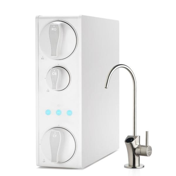 Tankless Reverse Osmosis Water Filtration System, Smart Faucet, 2:1 Pure to Drain Ratio, 500 GPD