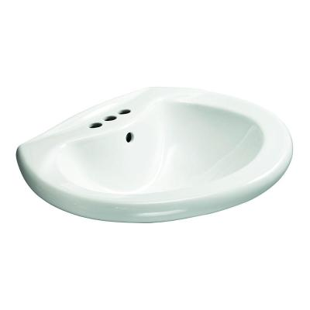 Shelburne 20 in. Pedestal Sink Basin in White