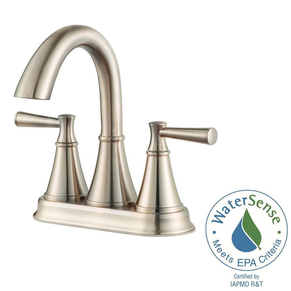Cantara 4 in. Centerset 2-Handle Bathroom Faucet in Brushed Nickel