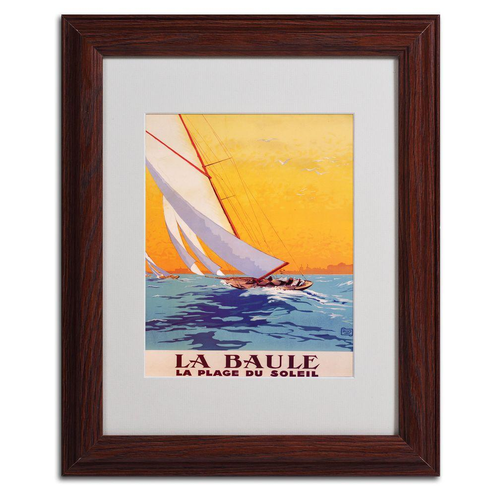 11 in. x 14 in. La Baule Matted Framed Art