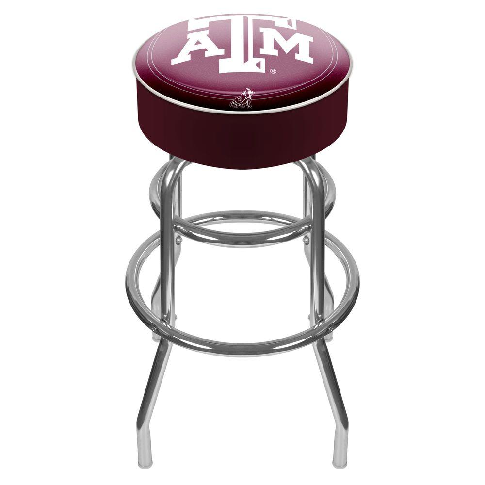 Trademark Room University Of Kentucky Chrome Bar Stool With Swivel Text Global Ky1000 Txt