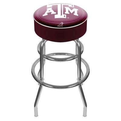 Texas A and M University 31 in. Chrome Padded Swivel Bar Stool
